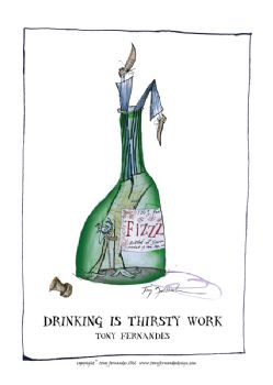 Drinking is Thirsty Work - signed print